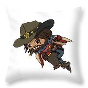 Mccree Usa Throw Pillow