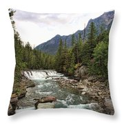 Mcdonald Falls - Glacier Throw Pillow