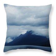 Mcdonald Lake Glacier Throw Pillow