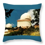 Mcdonald Observatory At Mt. Locke Throw Pillow