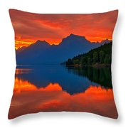 Mcdonald Sunrise Throw Pillow by Greg Norrell