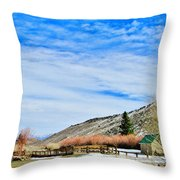 Mcgee Creek Pack Station Throw Pillow