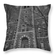 Mcgraw Hall - Bw Throw Pillow