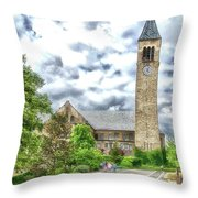 Mcgraw Tower Cornell University Ithaca New York Pa 10 Throw Pillow