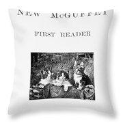 Mcguffeys Reader, 1901 Throw Pillow