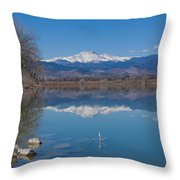 Mcintosh Lake Reflections Throw Pillow