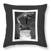 Mcintosh Sugar Mill Tabby Ruins  Throw Pillow