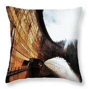 Mckays Dam Waterjet Throw Pillow