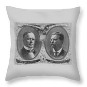 Mckinley And Roosevelt Election Poster Throw Pillow