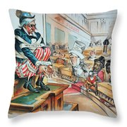 Mckinley Tariff Act, 1894 Throw Pillow