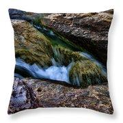 Mckinney Falls State Park-lower Falls 4 Throw Pillow