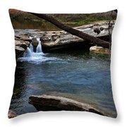 Mckinney Falls State Park-upper Falls 6 Throw Pillow