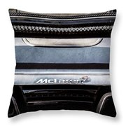 Mclaren 12c Spider Rear Emblem -0106ac Throw Pillow