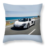Mclaren 650s Spider Throw Pillow