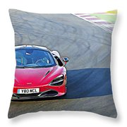 Mclaren 720s Throw Pillow