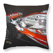 Mclaren F1 Alonso Throw Pillow