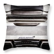 Mclaren Mp4 12c Rear View -0668ac Throw Pillow