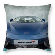 Mclaren Sports Car Throw Pillow