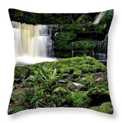 Mclean Falls In Southland New Zealand Throw Pillow
