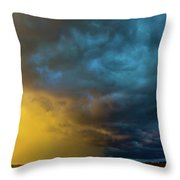 Mcluvn Nebraska Thunderstorms 049 Throw Pillow