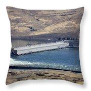 Mcnary Dam Throw Pillow