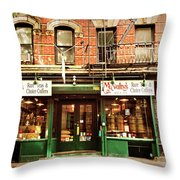 Mcnulty's Tea And Coffee Vintage Throw Pillow