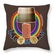 Mconomy Rainbow Brick Lamp Throw Pillow