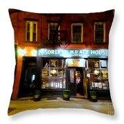 Mcsorleys At Night Throw Pillow
