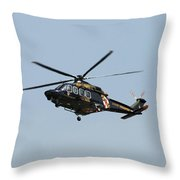 Md State Police Helicopter Throw Pillow