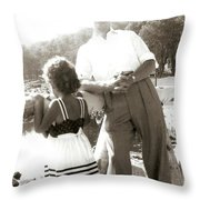 Me And Dad On The Mountain Throw Pillow