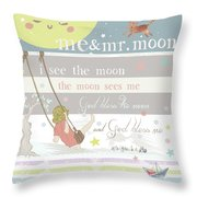 Me And Mr. Moon Throw Pillow