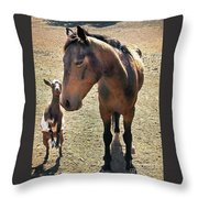 Me And My Best Buddy Throw Pillow