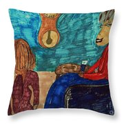 Me And My Granddaughter Throw Pillow