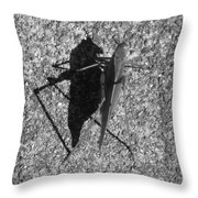 Me And My Shadow Black And White Throw Pillow