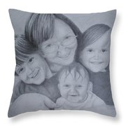 Me And The Grands Throw Pillow
