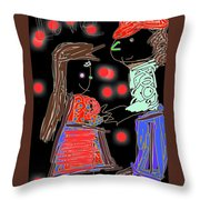 Me And You By Kathy Barney Throw Pillow