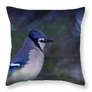 Me Minus You - Blue Throw Pillow
