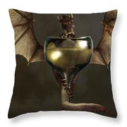 Mead Dragon Throw Pillow by Daniel Eskridge