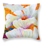 Meadow Angels - White Poppies Throw Pillow