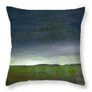 Meadow At Sunset Throw Pillow