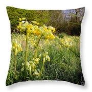 Meadow Cowslip Throw Pillow