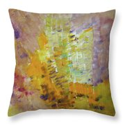 Meadow Flowers Abstract Throw Pillow