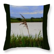 Meadow Grass Throw Pillow
