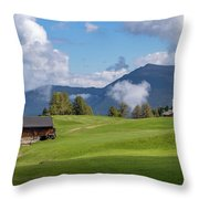 Meadow In Alpe Di Siusi Throw Pillow