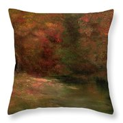 Meadow In Fall Throw Pillow