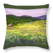 Meadow Of Flowers Throw Pillow