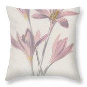 Meadow Saffron Throw Pillow