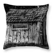 Meadow Shelter - Bw Throw Pillow