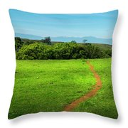 Meadow Trail Throw Pillow