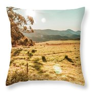 Meadows And Mountains Throw Pillow